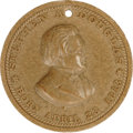 Political:Tokens & Medals, Rare Stephen Douglas 1860 Composition Campaign Medalet. Listed by Sullivan as SD 1860-12, this unusual item was struck on a ...