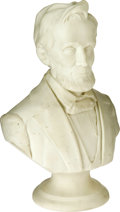 Antiques:Decorative Americana, Fine Abraham Lincoln Parian Bust, Probably Circa 1862-63. Theseparian busts appeared in the mid-19th century and were popul...
