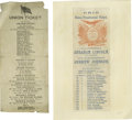 Political:Small Paper (pre-1896), Four Fine 1864 Lincoln & Johnson Electoral Tickets. Two from Illinois, one from Iowa, and one from Ohio (an attractive, colo... (Total: 4 items)