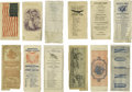 Political:Small Paper (pre-1896), Six Abraham Lincoln Election Tickets with one from the 1860presidential race and the others dating to 1864. The earliest ti...(Total: 6 items)