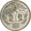 """Political:Tokens & Medals, 1864 Abraham Lincoln """"War For The Union"""" Jugate Medal in White Metal. Listed as Sullivan-Dewitt AL-1864-1, this medal measur..."""