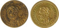 Political:Tokens & Medals, Pair of 1864 Abraham Lincoln Campaign Tokens in Brass. This lot features two different tokens; listed as Sullivan-Dewitt AL ... (Total: 2 )