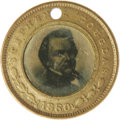 Political:Ferrotypes / Photo Badges (pre-1896), Pristine 1860 Douglas/Johnson Campaign Ferrotype. Both ferros arerather dark (almost certainly as made), but quite clear. T...