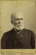Photography:Cabinet Photos, Rare John C. Frémont Autographed Cabinet Photo. Although Frémont'slong life of public service makes his signature relativel...