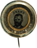 Political:Ferrotypes / Photo Badges (pre-1896), Choice Ulysses S. Grant Ferrotype Campaign Pin. Two very trivialtiny marks, almost invisible without magnification, detract...