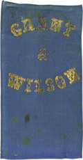 Political:Ribbons & Badges, Rare 1872 Grant & Wilson Campaign Ribbon Badge, with original brass pin on reverse for wearing. While 1868 items promoting G...