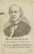 Political:Small Paper (pre-1896), Most Unusual Horace Greeley Advertising Card, Dated September 1872.Especially nice as it promotes a (New Jersey) newspaper,...