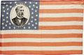 Political:Textile Display (pre-1896), Scarce 1884 James G. Blaine Silk Campaign Flag. The sheen of thesilk fabric lends a vibrancy to the colors which make this ...