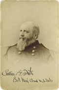 Photography:Cabinet Photos, Rare Signed Cabinet Photo of Clinton B. Fisk, Union General and1888 Prohibition Party Candidate for President. Fisk garnere...