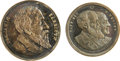 Political:Tokens & Medals, Two Very Rare Silver Harrison and Morton Political Medalets from 1888 and 1892. The jugate is listed by Sullivan as BH 1888-... (Total: 2 )
