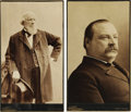 "Photography:Cabinet Photos, Exceptional Huge 7.5"" x 12.5"" 1888 Cleveland & Thurman CabinetPhoto Pair. The only examples we have ever seen in this drama...(Total: 2 items)"