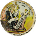 """Political:Pinback Buttons (1896-present), Rare Multi-Color William McKinley """"Pro Expansion"""" 7/8"""" Cartoon Button. This gorgeous design is known in both 1 1/2"""" and 7/8""""..."""