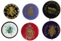 """Political:Pinback Buttons (1896-present), An Exceptionally Nice Group of 1896 """"Gold Bug"""" and """"Silver Bug""""Items. Six pinbacks, and six lapel studs, ranging in size fr...(Total: 12 items)"""