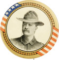 "Political:Pinback Buttons (1896-present), Massive 2 1/8"" McKinley & Roosevelt Button Pair from 1900, withTeddy in Rough Rider Uniform. The Roosevelt is the key here,...(Total: 2 items)"