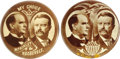 """Political:Pinback Buttons (1896-present), Two Scarce and Attractive 1 1/4"""" McKinley & Roosevelt Jugate Buttons. These elegant buttons rank among the most appealing se... (Total: 2 pieces)"""