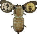 """Political:Pinback Buttons (1896-present), 1896 Bryan & Sewall Mechanical """"Silver Bug"""" Pin. Much rarer than its McKinley & Hobart mate, especially in this beautiful co..."""
