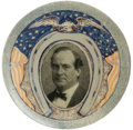 "Political:Pinback Buttons (1896-present), Magnificent Red, White, Blue, and Silver William Jennings BryanButton Design, with 1900 Pose. This large 1 1/2"" design, fea..."