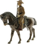 Political:Miscellaneous Political, Most Unusual Early Composition Figure of a Mounted Teddy Rooseveltin Rough Rider Uniform. Made of an indeterminate composit...