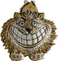 Political:Ribbons & Badges, Wonderful, High-Relief Theodore Roosevelt Lithographed Aluminum Badge. This is one of our personal all-time favorite Teddy i...