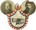 Political:Ribbons & Badges, 1908 Bryan & Kern Lithographed Tin Mechanical Badge. The mate to the Taft & Sherman version offered elsewhere in this sale. ...