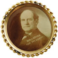 """Political:Pinback Buttons (1896-present), Large, Unusual William Jennings Bryan Portrait Pin. This monster measures 4"""" across and pictures Bryan and the words """"Wm.J. ..."""