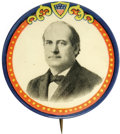 "Political:Pinback Buttons (1896-present), Magnificent Large 1 3/4"" 1908 William Jennings Bryan Button. A very scarce item, especially in this beautiful shape. Makes q..."
