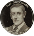 "Political:Pinback Buttons (1896-present), Very Rare, Early Woodrow Wilson for New Jersey Governor 7/8""Button. One of only several known examples, this is a key butto..."