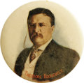 """Political:Pinback Buttons (1896-present), Gorgeous Teddy Roosevelt 1912 Pinback. A rare large 2 1/2"""" full color portrait button from the """"Golden Age"""" of campaign pinb..."""