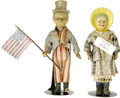 Political:3D & Other Display (1896-present), Suffrage and Uncle Sam Patriotic Figures made of Papier-mâché. Witha cartoon likeness similar to that of Susan B. Anthony, ...