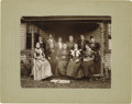 """Photography:Cabinet Photos, Important Large Original 1896 Photograph of Susan B. Anthony withWoman's Rights Leaders measuring 9.5"""" x 7.75"""" (13.5"""" x 11""""..."""
