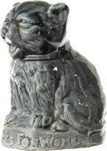"Antiques:Decorative Americana, Votes For Women Cat. This 3.25"" tall gray-blue porcelain kittencalls for ""Votes For Women"". This is different than and a co..."