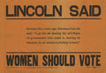 """Antiques:Posters & Prints, Lincoln Said Women Should Vote - 1910 Oregon Woman Suffrage Poster.This wonderful 21"""" x 13.5"""" black on orange poster is pic..."""