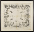 Antiques:Textiles, Wonderful Early 1881 Anti-Woman's Rights Silk Kerchief. Althoughnot dated, this British-made piece is presumably from 1881,...