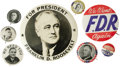 Political:Pinback Buttons (1896-present), Fine Franklin D. Roosevelt Button Collection of Sixteen Different. As shown; includes two uncommon 1928 gubernatorial button... (Total: 16 pieces)