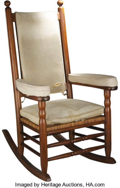 Cool President John F Kennedys Personal Rocking Chair From His Bralicious Painted Fabric Chair Ideas Braliciousco