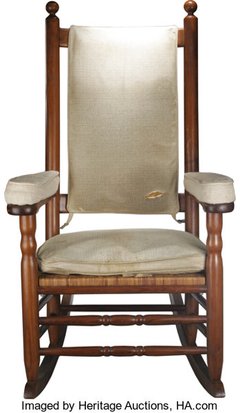 Magnificent President John F Kennedys Personal Rocking Chair From His Bralicious Painted Fabric Chair Ideas Braliciousco
