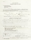Political:Small Paper (1896-present), Lee Harvey Oswald: An Important Group of Documents Relating to the Autopsy of John F. Kennedy's Assassin. This fascinating l...