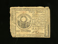Colonial Notes:Continental Congress Issues, Continental Currency February 26, 1777 $30 Fine. Edge wear isnoticed on this Continental note....