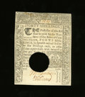 Colonial Notes:Connecticut, Connecticut March 1, 1780 40s Choice About New. A light horizontal center fold keeps this punch cancelled note from the New ...