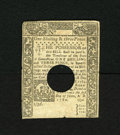 Colonial Notes:Connecticut, Connecticut June 1, 1780 1s/3d About New. This bright andattractive hole cancelled example has an approximate quarter inch...
