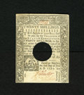 Colonial Notes:Connecticut, Connecticut June 1, 1780 20s About New. The center fold on thishole cancelled note has a small split at each end. Still an...