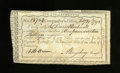 Colonial Notes:Connecticut, Connecticut Comptroller's/Treasury Office Payments. £1 16s Feb. 29,1792 Anderson CT49 Extremely Fine, CC. This is the vari...