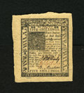 Colonial Notes:Delaware, Delaware January 1, 1776 5s Gem New. This is a well preserved notewith bold signatures and wide margins....