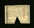 Colonial Notes:Massachusetts, Massachusetts May 5, 1780 $7 New. This note comes with a photo ofitself and a Colonial American Coin Club certificate signe...
