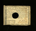 Colonial Notes:New Hampshire, New Hampshire April 29, 1780 $8 Very Fine. Folds are light on thisscarce note that has been punch out cancelled....