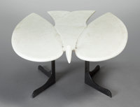FRANÇOIS-XAVIER LALANNE (French, 1927-2008) Marble Bird Coffee Table, 1974 White marble, painted wro