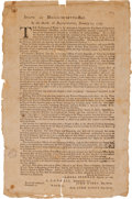Miscellaneous:Broadside, [Revolutionary War]. Samuel Freeman Broadside: State ofMassachusetts-Bay. In the House of Representatives, January 25,...