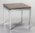Furniture , Knoll International. Small Side Table. Granite, chrome-plated steel. 14-1/4 x 15 x 15 inches (36.2 x 38.1 x 38.1 cm). ... (Total: 2 Items)