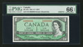 Canadian Currency: , BC-37b $1 1954 Solid Nine Serial Number. ...