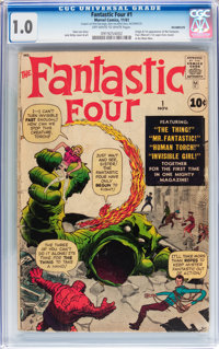 Fantastic Four #1 (Marvel, 1961) CGC FR 1.0 Off-white to white pages